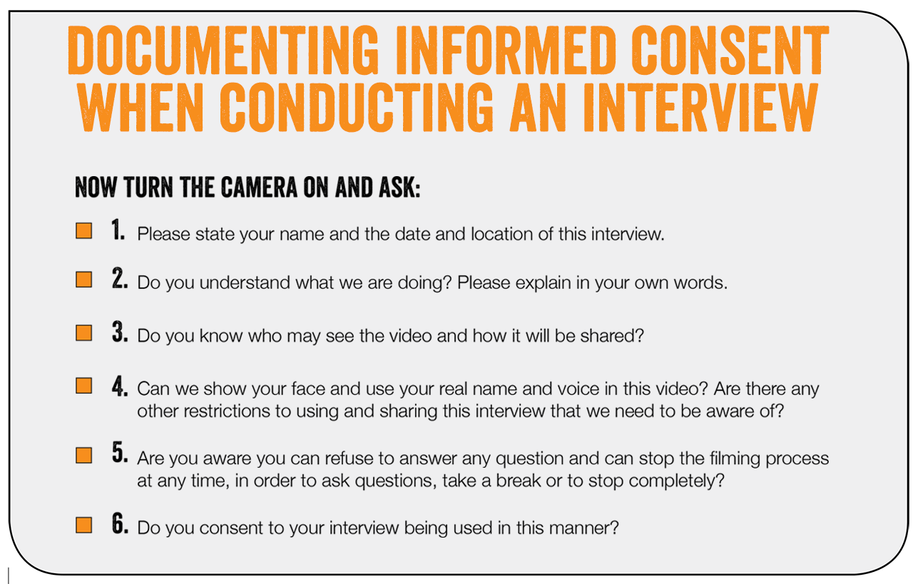 gender based violence days of activism suggested questions for documenting informed consent when conducting interviews survivors of gender based violence